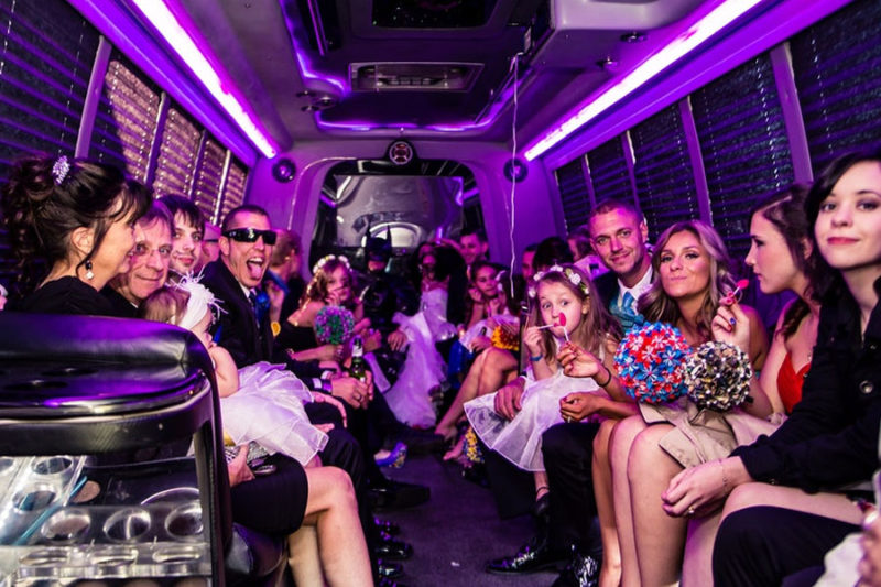 party bus for wedding transportation